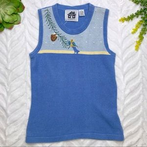 Storybook Knits For HSN Sleeveless Winter Sweater